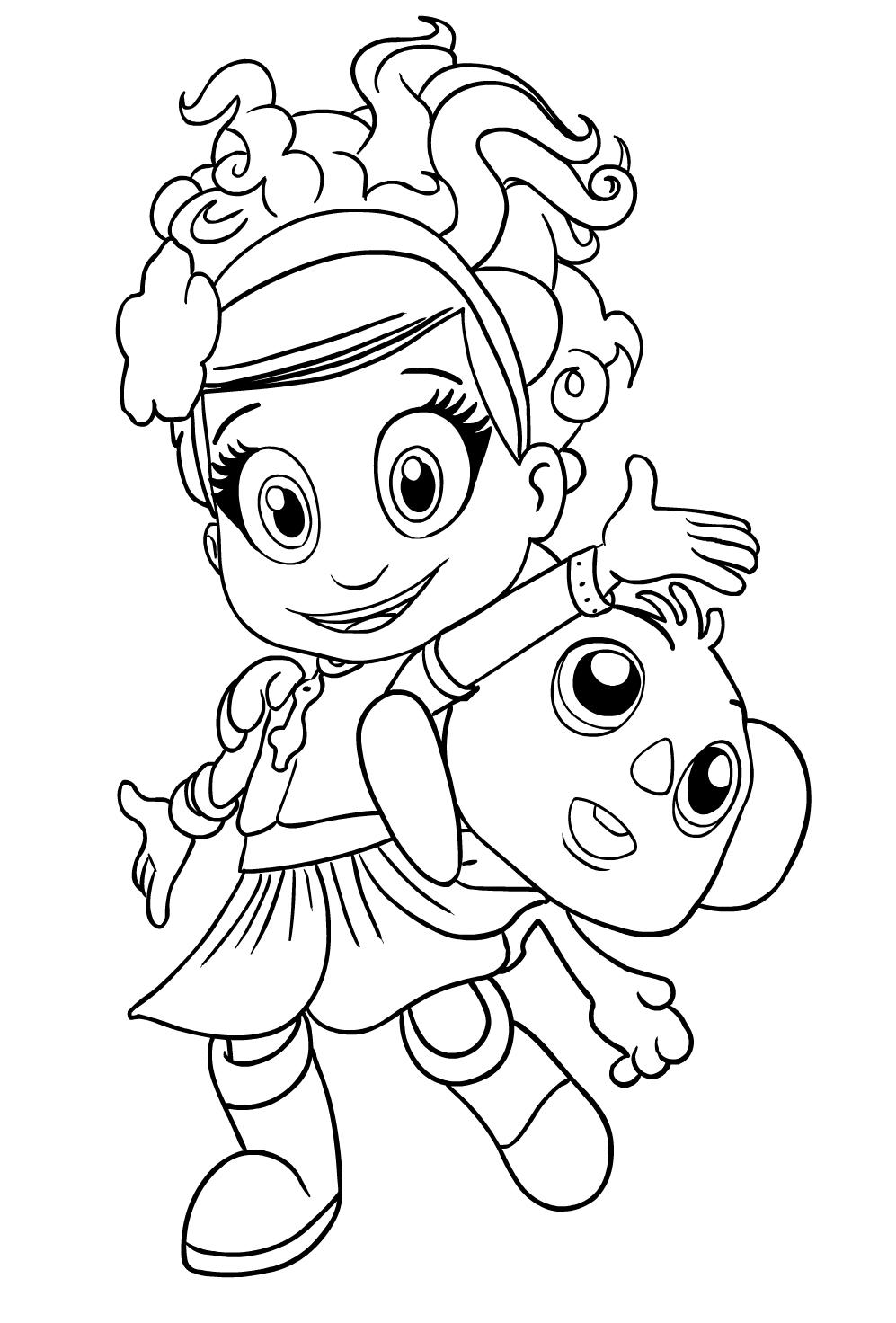 Coloriage 4 de Luna Petunia   imprimer et colorier