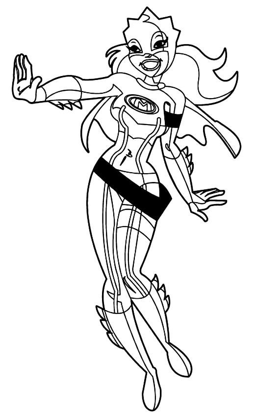 Desenho 2 de Mega Mindy para imprimir e colorir