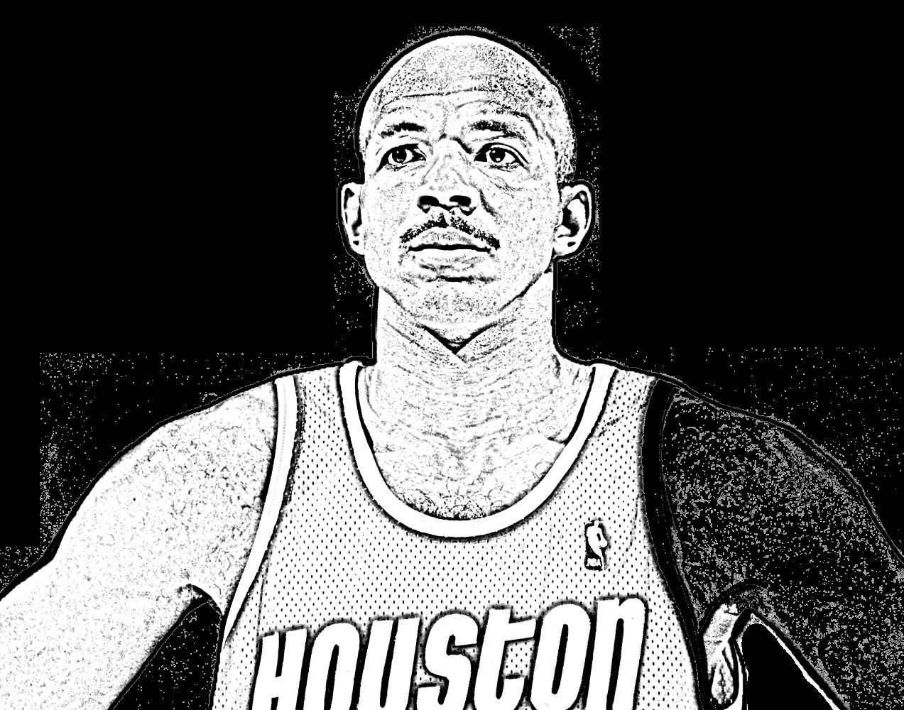 Desenho de Clyde Drexler de Basket NBA para imprimir e colorir