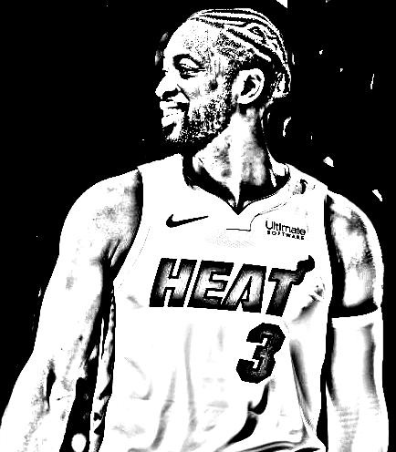 Desenho de Dwyane Wade de Basket NBA para imprimir e colorir