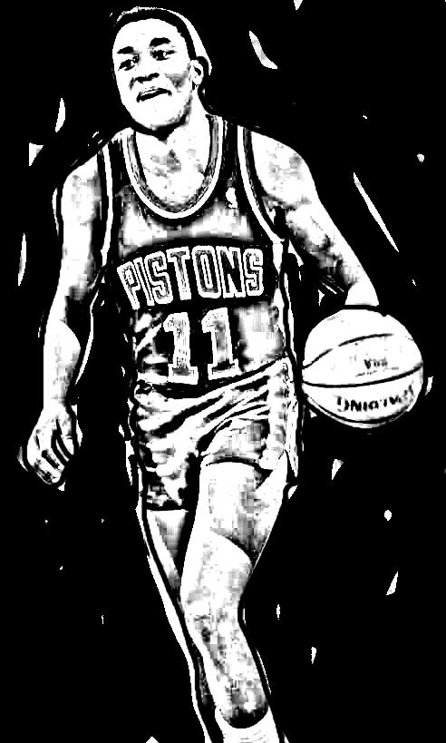 Desenho de Isiah Thomas de Basket NBA para imprimir e colorir