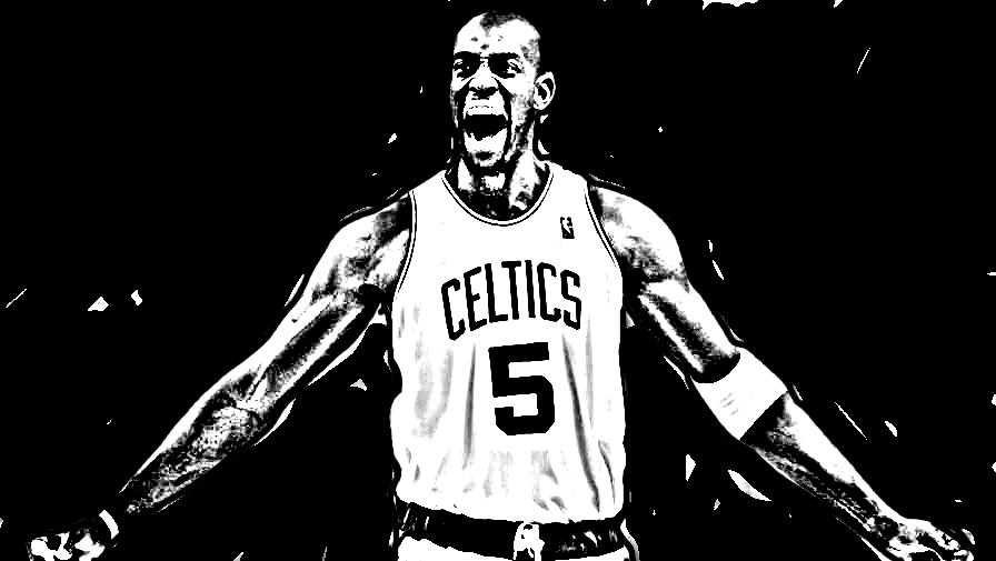 Desenho de Kevin Garnett de Basket NBA para imprimir e colorir