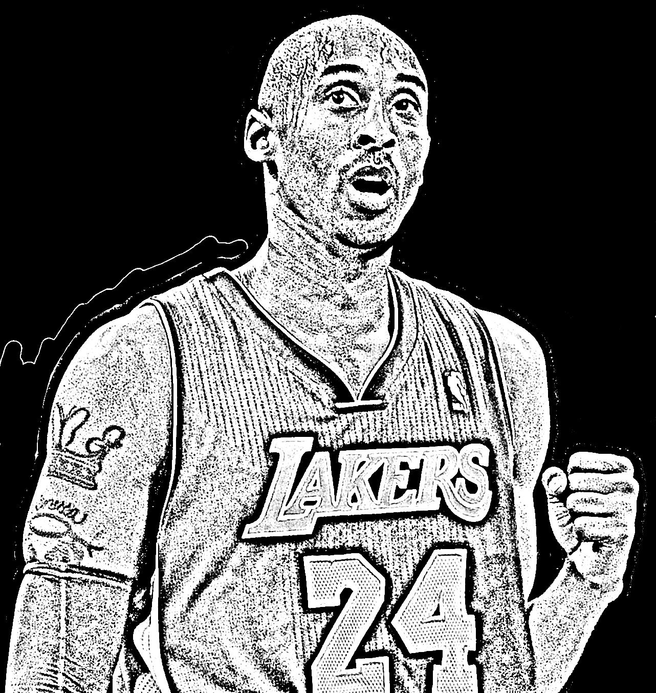 Desenho de Kobe Bryant de Basket NBA para imprimir e colorir