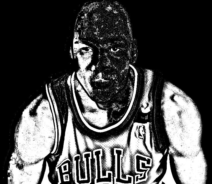 Desenho de Michael Jordan de Basket NBA para imprimir e colorir