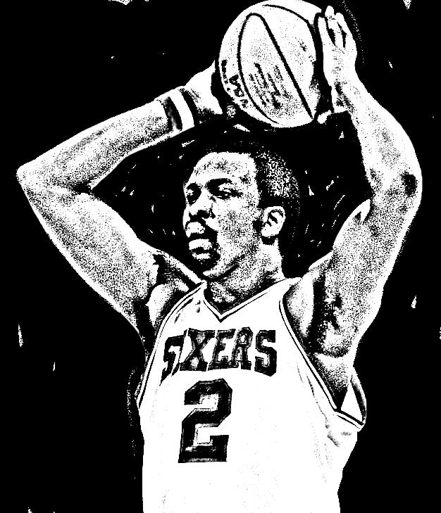 Desenho de Moses Malone de Basket NBA para imprimir e colorir