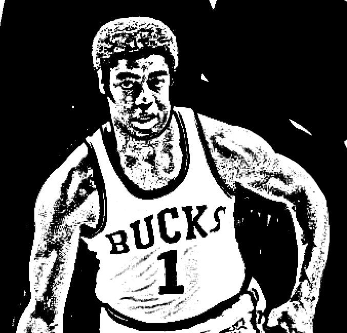 Desenho de Oscar Robertson de Basket NBA para imprimir e colorir
