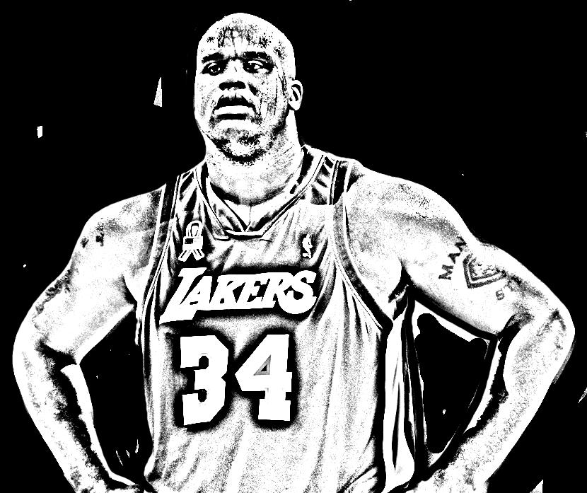 Desenho de Shaquille O'Neal de Basket NBA para imprimir e colorir