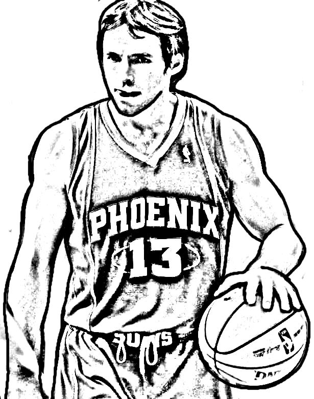 Desenho de Steve Nash de Basket NBA para imprimir e colorir