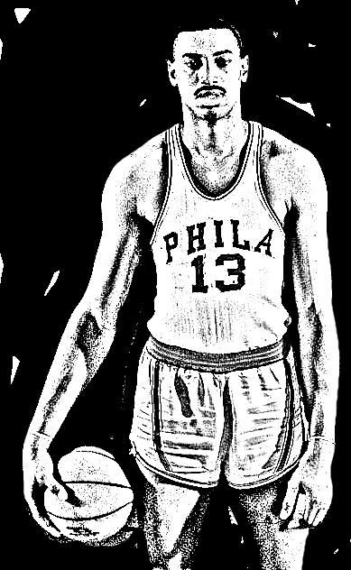 Desenho de Wilt Chamberlain de Basket NBA para imprimir e colorir