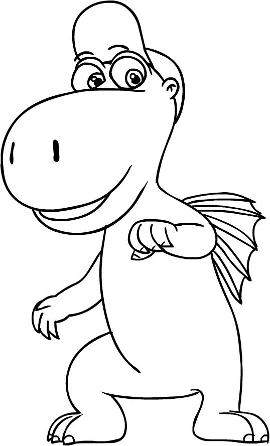 Desenho 1 De Coco O Pequeno Dragao Para Colorir