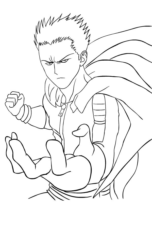 Coloriage de Blast de les One-Punch Man is imprimer et colorier