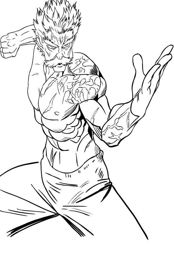 One Punch Man Para Colorir - one punch man para colorir ...