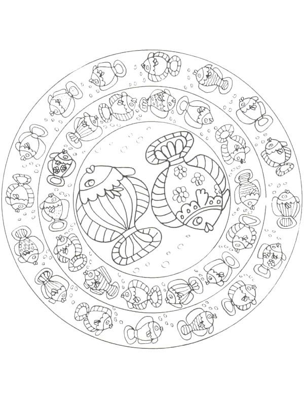 Disegno 8 di Pesci da stampare e colorare