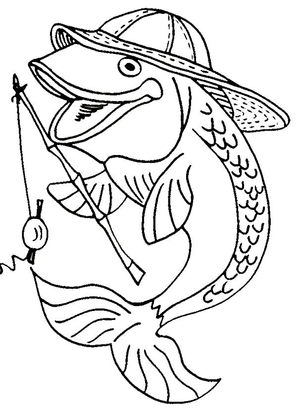Disegno 13 di Pesci da stampare e colorare
