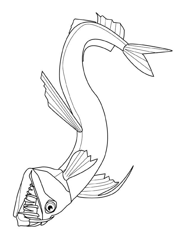 Disegno 19 di Pesci da stampare e colorare