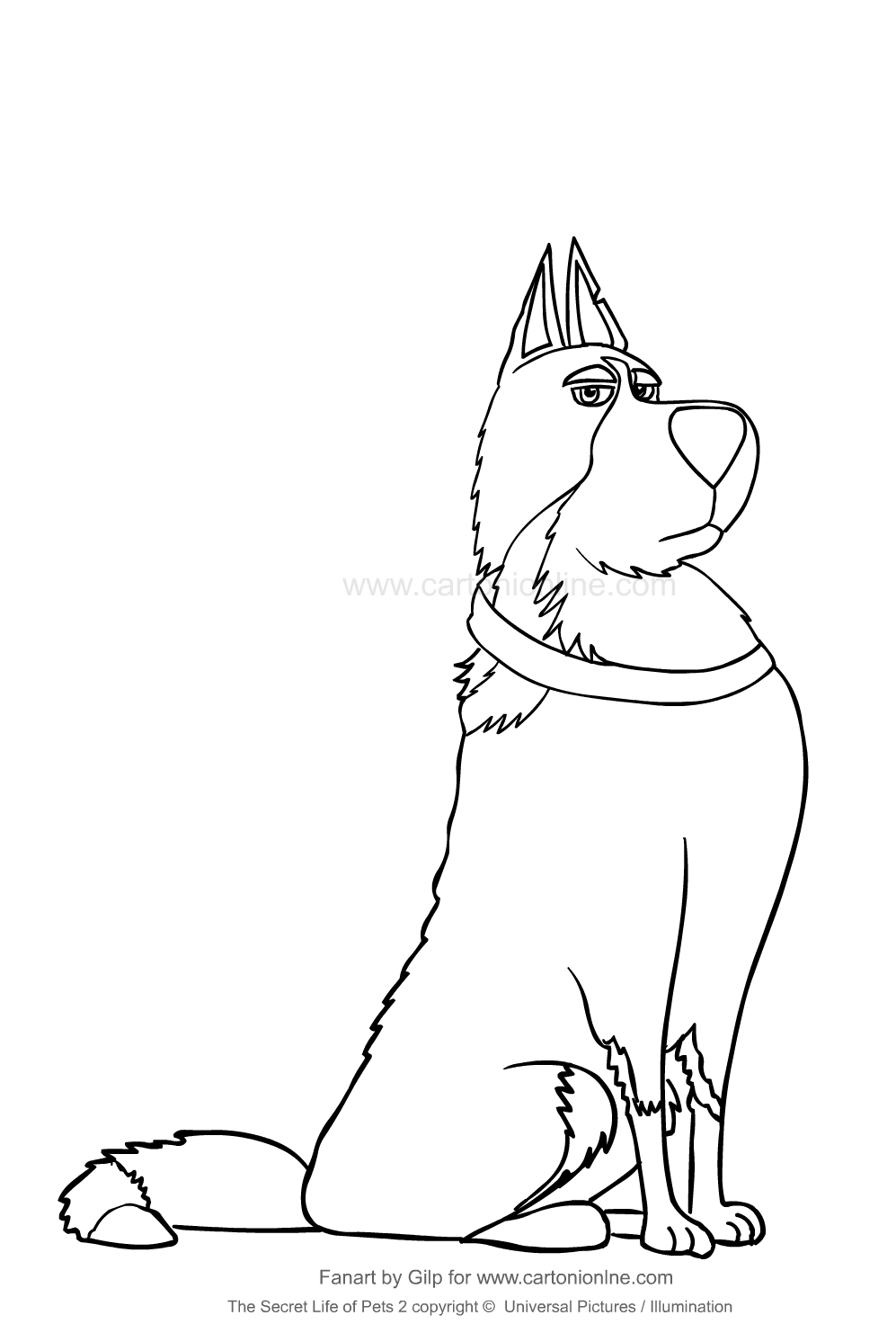 Dibujo De Rooster De Mascotas 2 Para Colorear