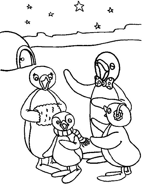 Coloriage 1 de Pingu is imprimer et colorier