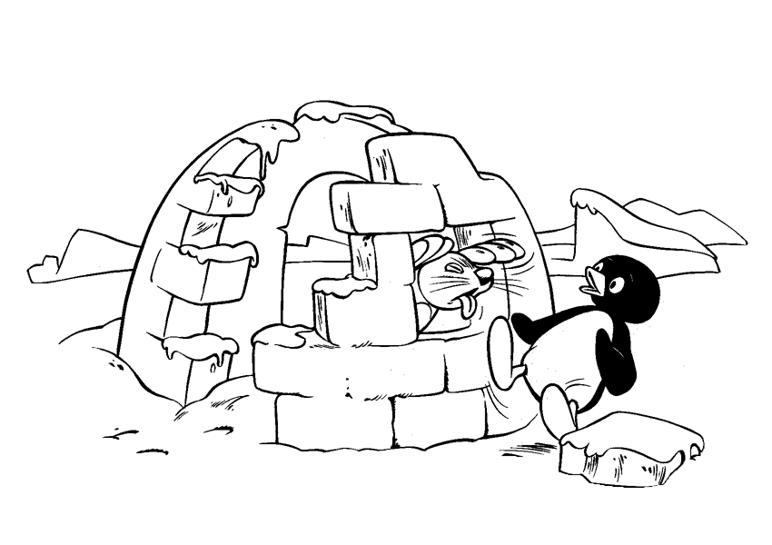 Coloriage 2 de Pingu is imprimer et colorier