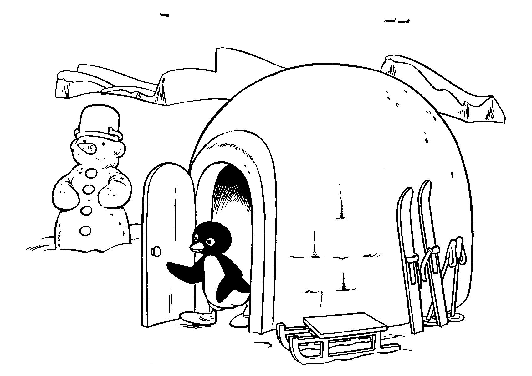 Coloriage 17 de Pingu is imprimer et colorier