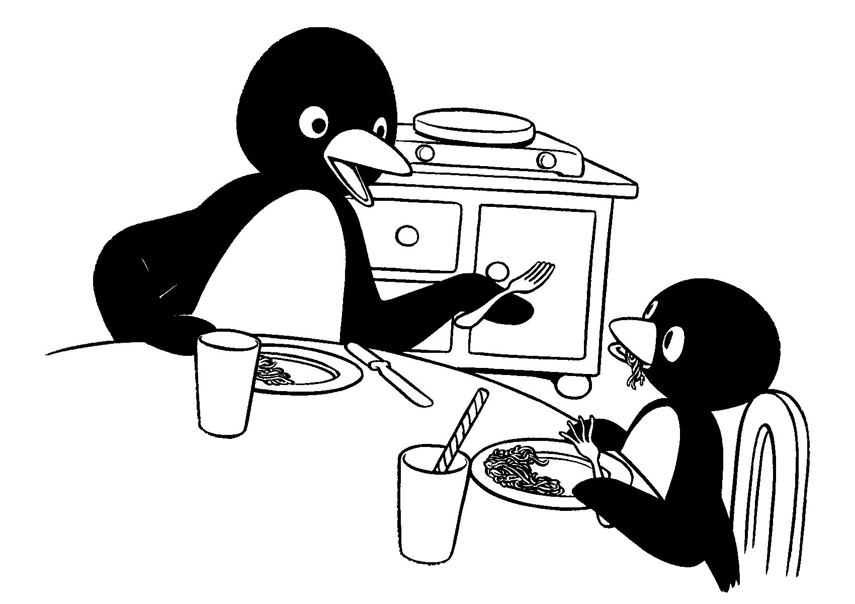 Coloriage 19 de Pingu is imprimer et colorier