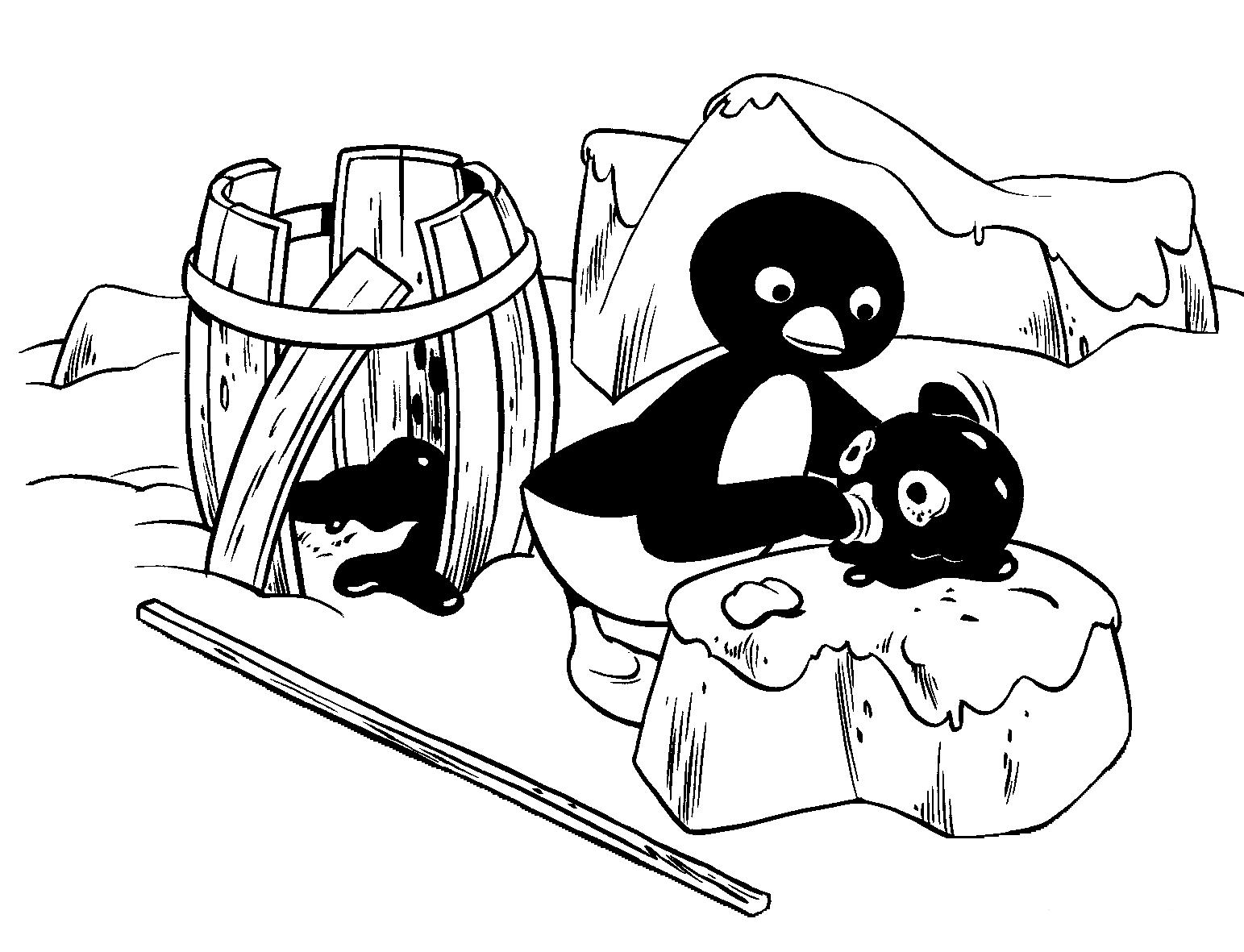 Coloriage 4 de Pingu is imprimer et colorier