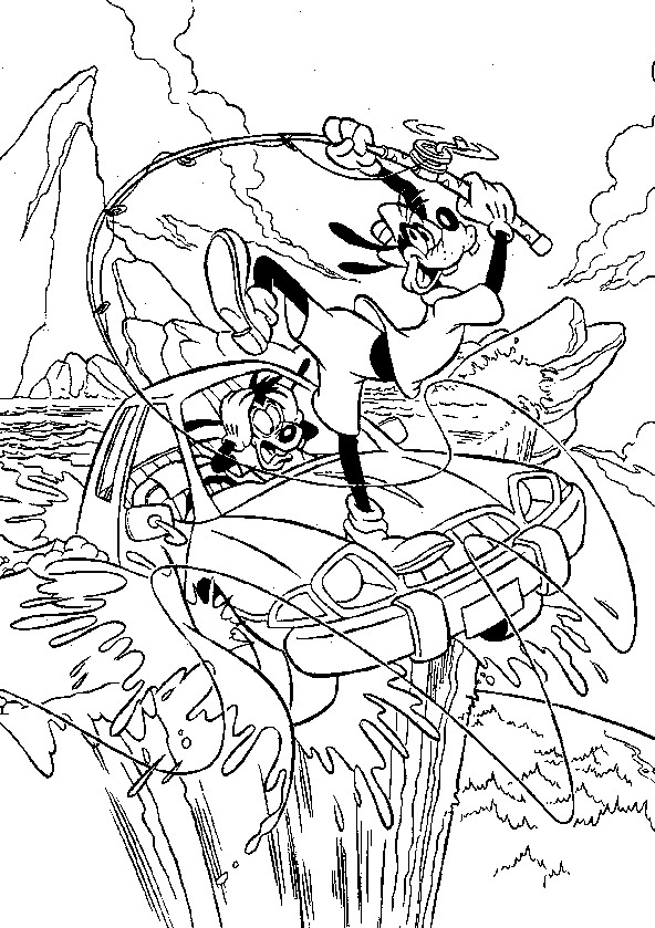 Dibujo 5 de Goofy para imprimir y colorear