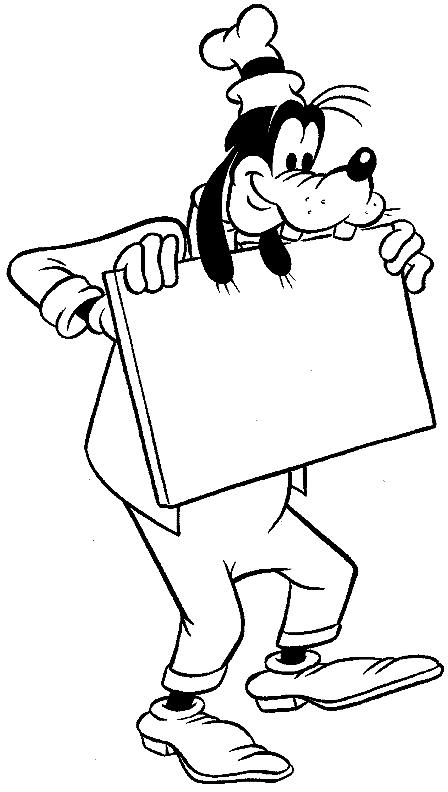 Dibujo 9 de Goofy para imprimir y colorear