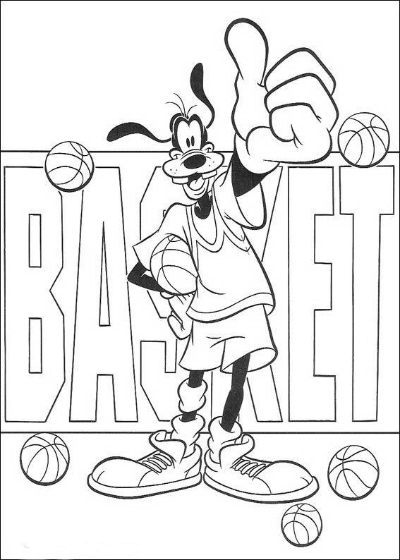 Dibujo 22 de Goofy para imprimir y colorear