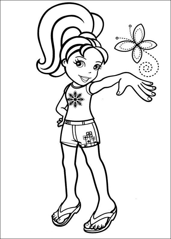 Disegno 1 di Polly Pocket da stampare e colorare