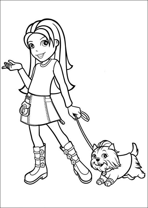 Disegno 2 di Polly Pocket da stampare e colorare