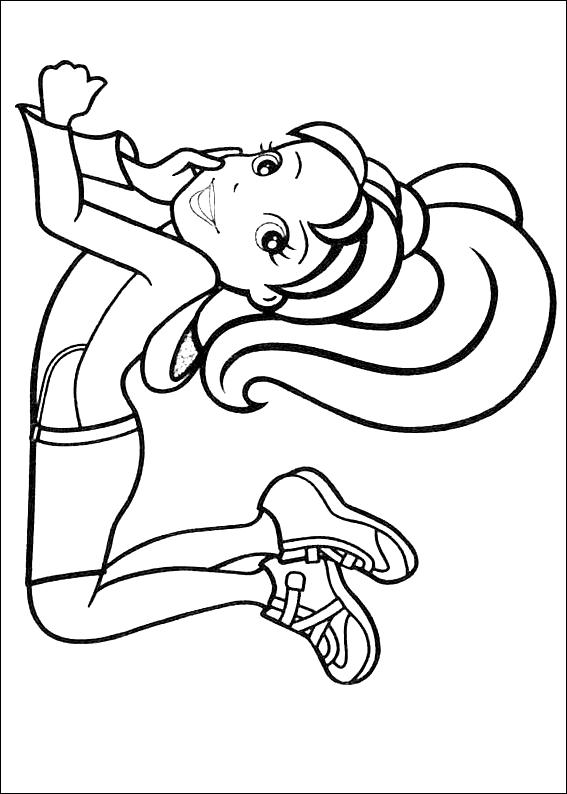 Disegno 4 di Polly Pocket da stampare e colorare