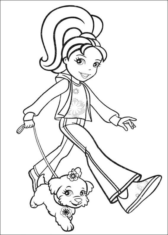 Polly Pocket 21 dibujo para imprimir y colorear