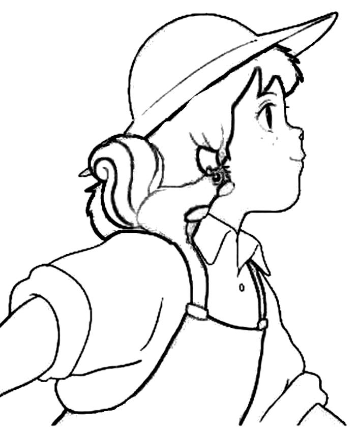 Pollyanna dibujo 4 para imprimir y colorear