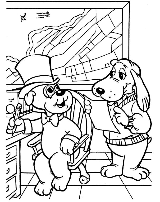 Libra cachorros dibujo 2 para imprimir y colorear
