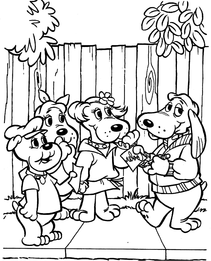 Libra cachorros dibujo 5 para imprimir y colorear