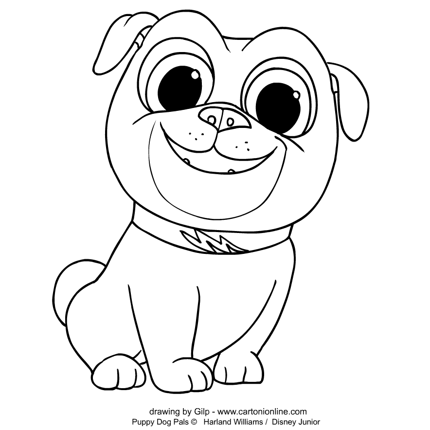 Bingo 2 von Welpen Freunde coloring page to print and coloring