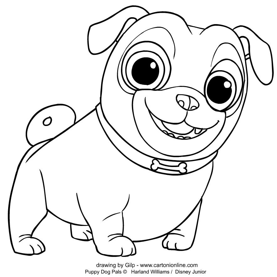 Colorear Puppy Dog Pals Rolly 2 para imprimir y colorear