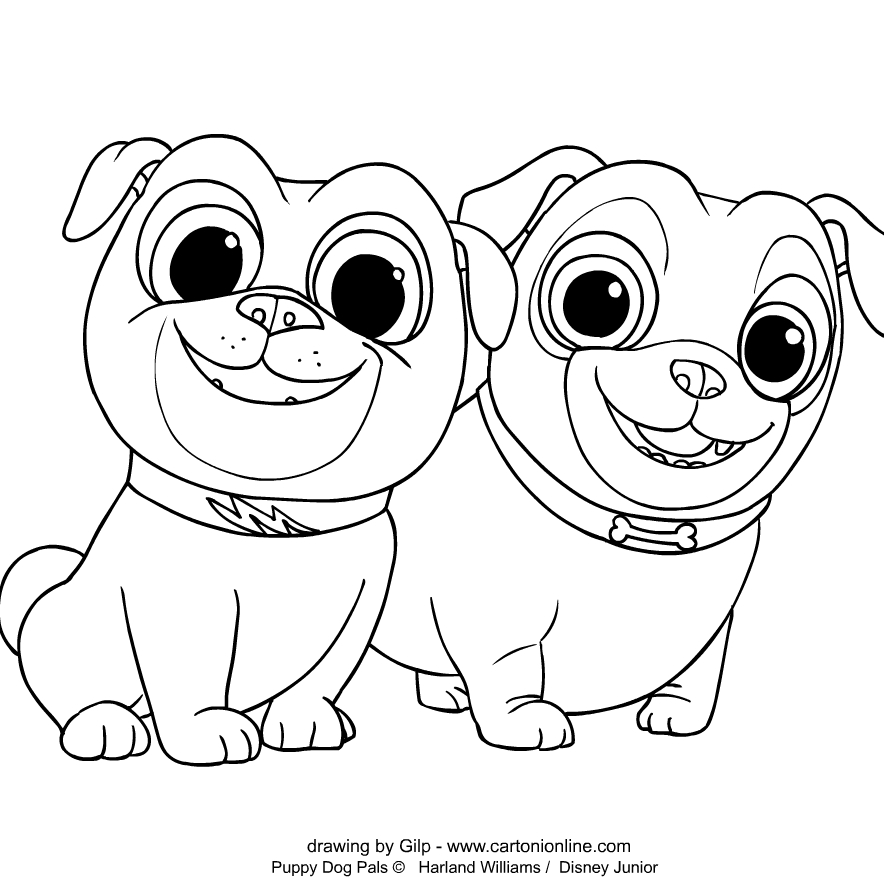 Welpen Freunde coloring page to print and coloring