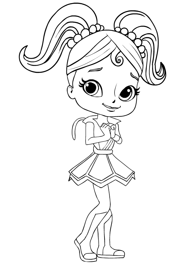 Anna Banana from Rainbow Rangers coloring page to print and coloring