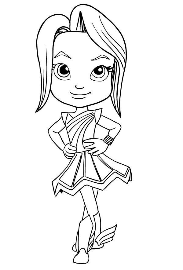 Indigo from Rainbow Rangers coloring page to print and coloring
