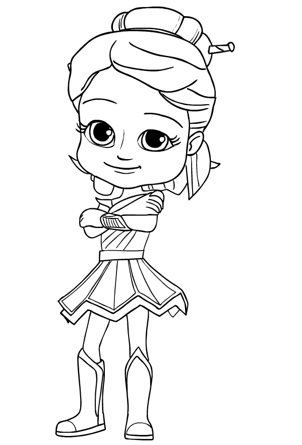 Mandy from Rainbow Rangers coloring page to print and coloring