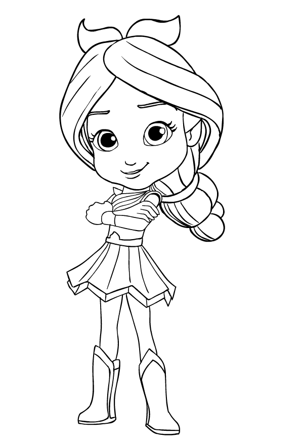 Pepper Mintz From Rainbow Rangers Coloring Page