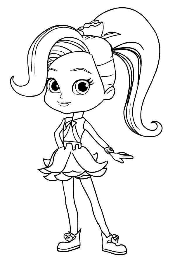 Rosie Redd from Rainbow Rangers coloring pages to print and coloring