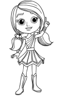 Rainbow Rangers Coloring Page