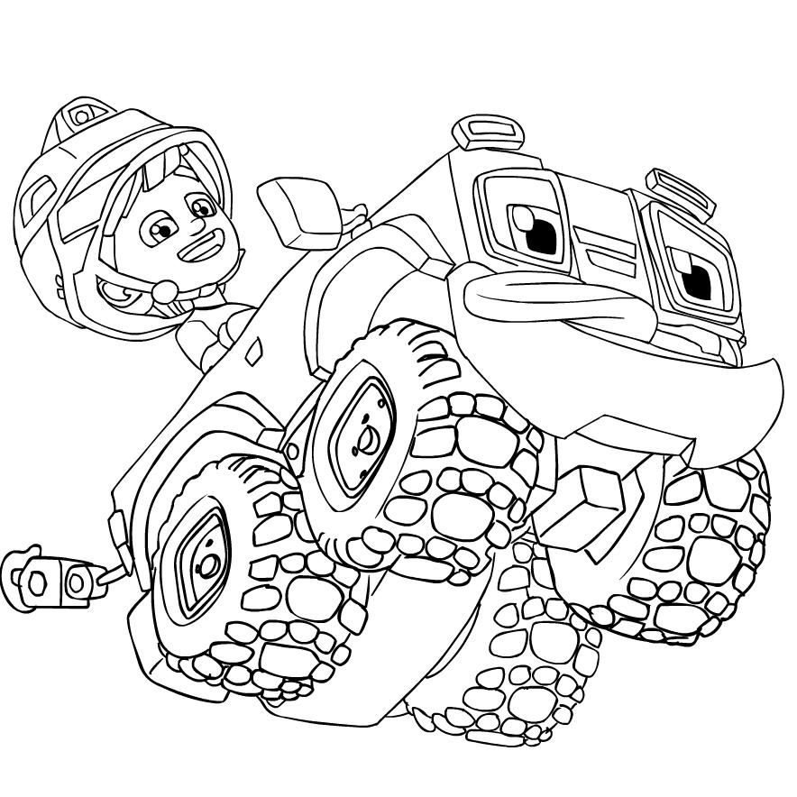Dibujo 5 de Rev and Roll para imprimir y colorear