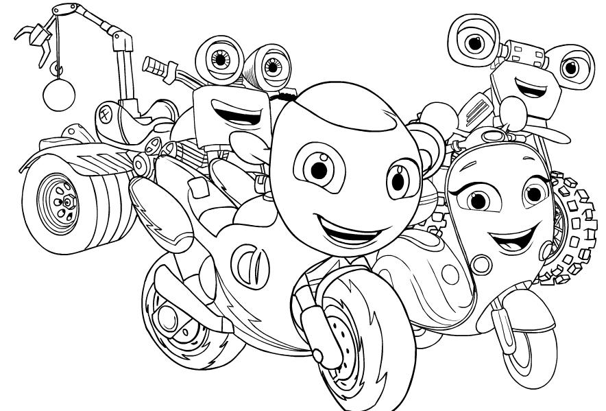 Dibujo De Ricky Zoom 2 De Ricky Zoom Para Colorear