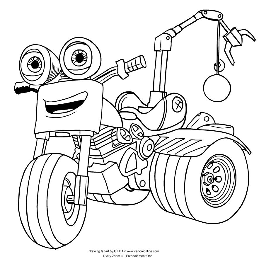 Dibujo De Loop De Ricky Zoom Para Colorear