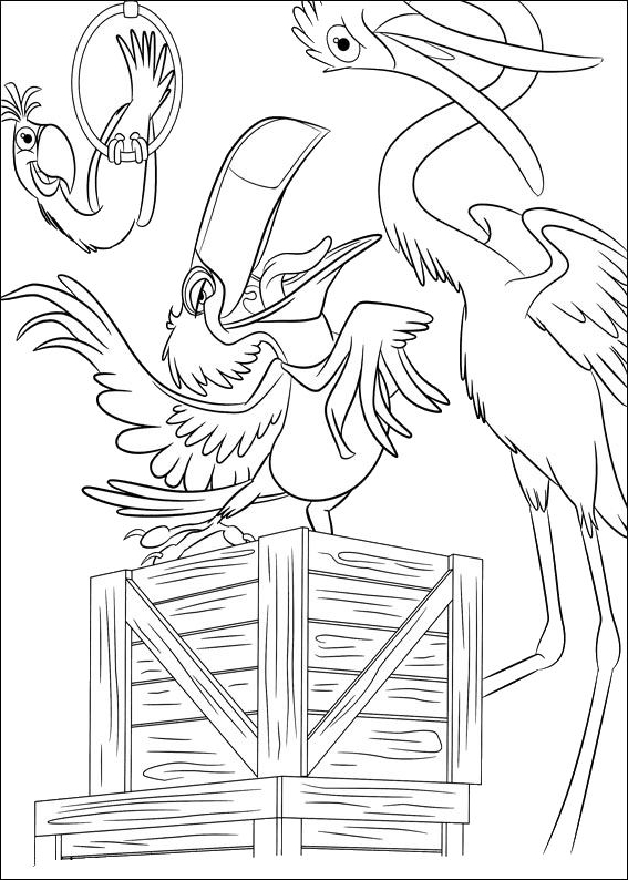 Drawing 19 From Rio Coloring Page