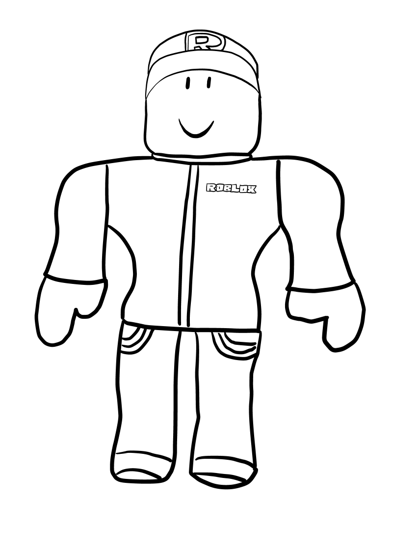 Guest From Roblox Coloring Page