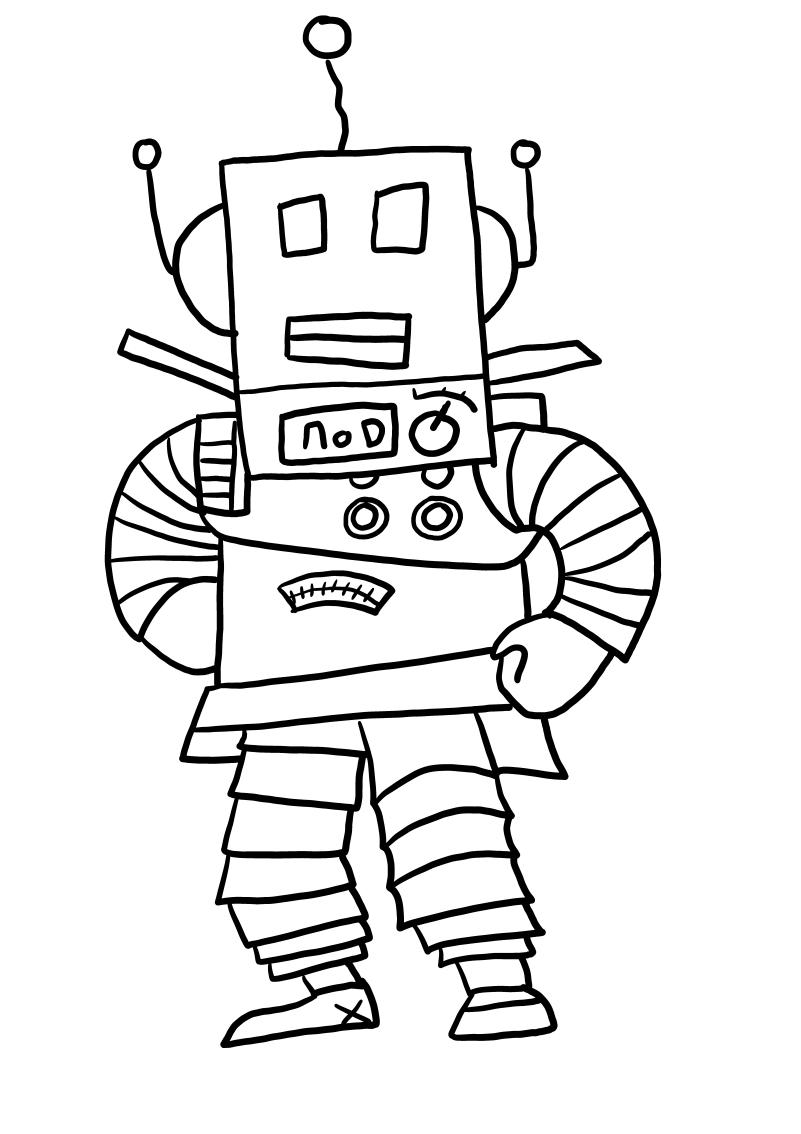 Robot from Roblox värityskuvat tulostaa ja värittää